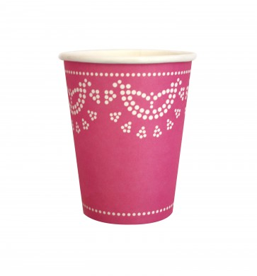 Lace Paper Cups – Dark Pink