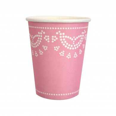Lace Paper Cups – Light Pink