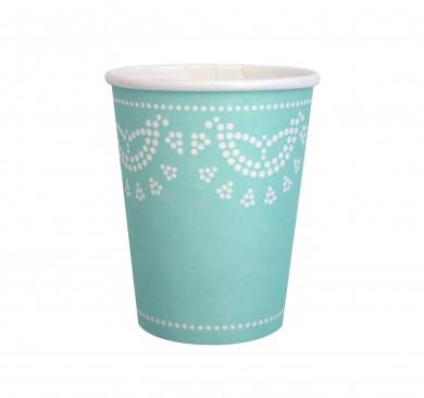 Lace Paper Cups – Aqua