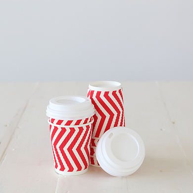Latte Cups – Red Stripe