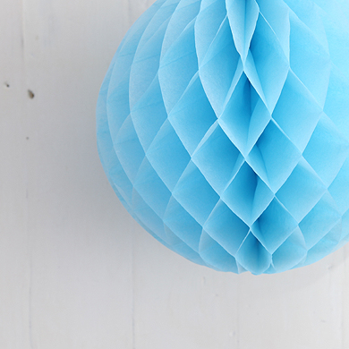 Tissue Paper Balls – Light Blue