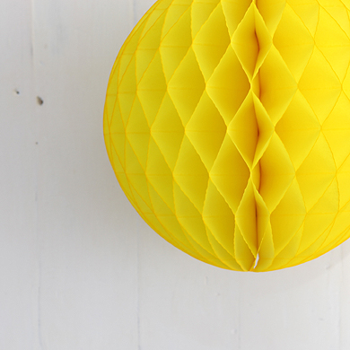 Tissue Paper Balls – Yellow