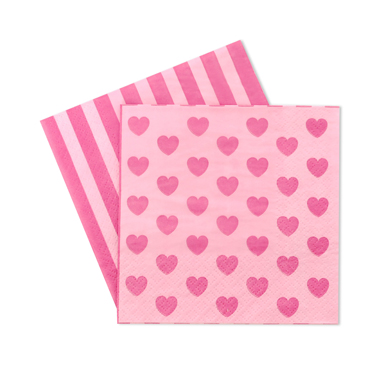 Napkin – Pink Heart