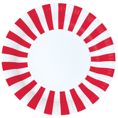 Plate &#8211; Candy Cane Red