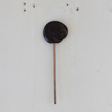 Plain Round Lollipop – Black