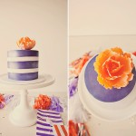 Purple and Orange 30th Birthday Candy Table