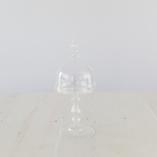 Crosby Glass Dome with Base Wide