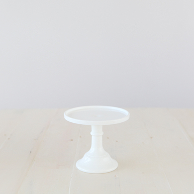 15cm Milk Glass Cake Stand – White