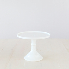 22cm Milk Glass Cake Stand – White