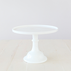 30cm Milk Glass Cake Stand – White