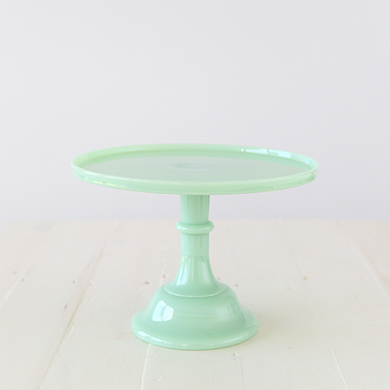 30cm Milk Glass Cake Stand – Jade
