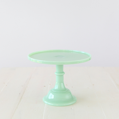 25cm Milk Glass Cake Stand – Jade