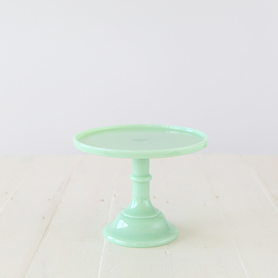 22cm Milk Glass Cake Stand – Jade