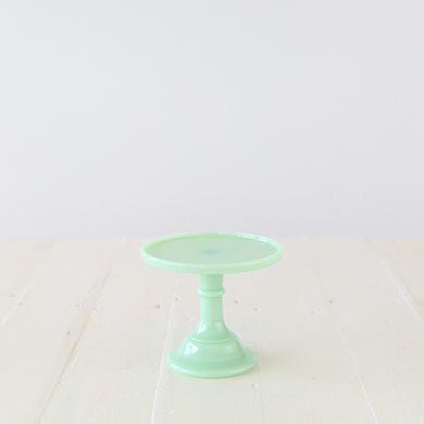 15cm Milk Glass Cake Stand – Jade