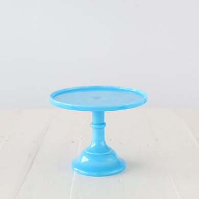 22cm Milk Glass Cake Stand – Blue