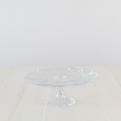Dominion Clear Glass Cake Stand