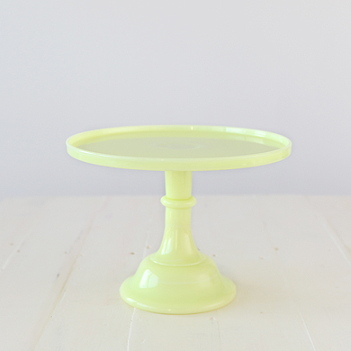 30cm Milk Glass Cake Stand – Buttercream