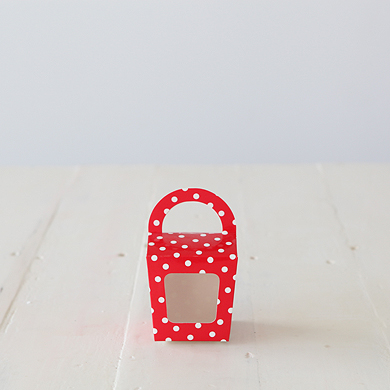 Cupcake Candy Favour Box &#8211; Red Spot