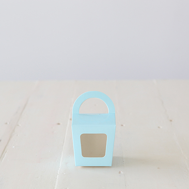 Cupcake Candy Favour Box &#8211; Light Blue Spot