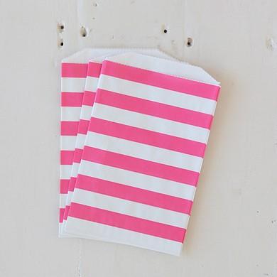 Horizontal Stripe Favour Bags – Pink Stripe