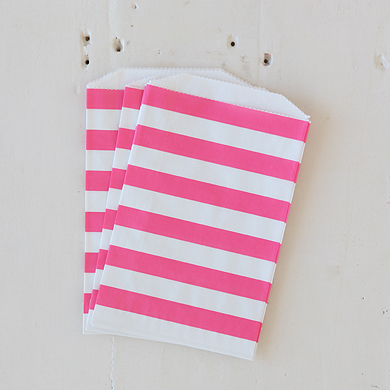 Horizontal Stripe Favour Bags – Pink Stripe