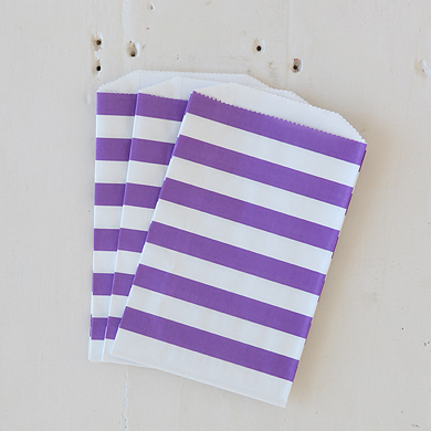 Horizontal Stripe Favour Bags – Medium Purple