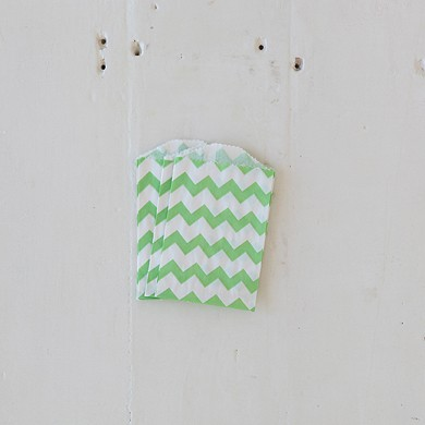 Chevron Bitty Bags – Green
