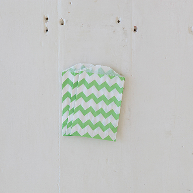Chevron Bitty Bags – Green