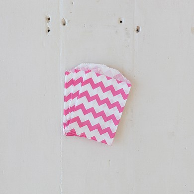 Chevron Bitty Bags – Pink