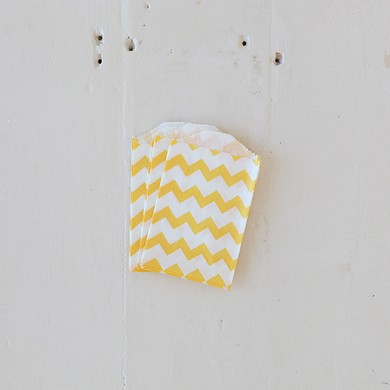 Chevron Bitty Bags – Yellow