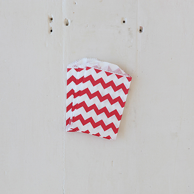 Chevron Bitty Bags – Red