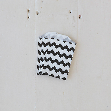 Chevron Bitty Bags – Black
