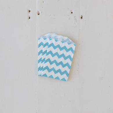Chevron Bitty Bags – Aqua