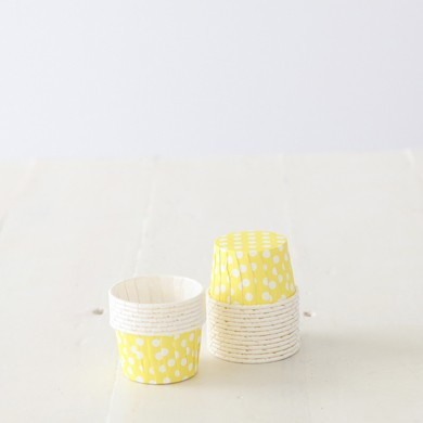 Baking Candy Cups – Yellow Dot