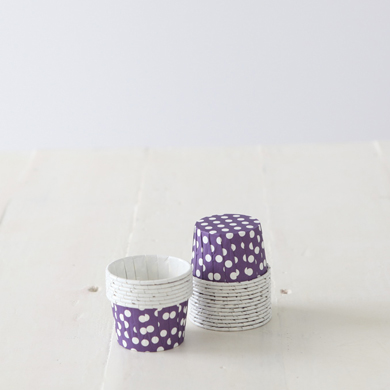 Baking Candy Cups – Purple Dot