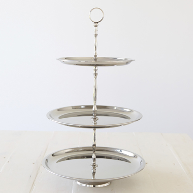 Lewis Nickel 3 tier cake stand