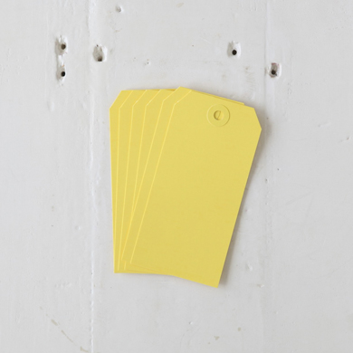 Luggage Tag – Large Yellow