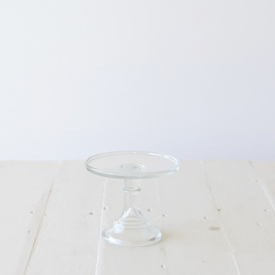 15cm Milk Glass Cake Stand – Clear