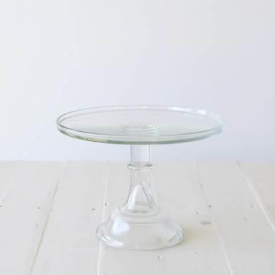 30cm Milk Glass Cake Stand – Clear