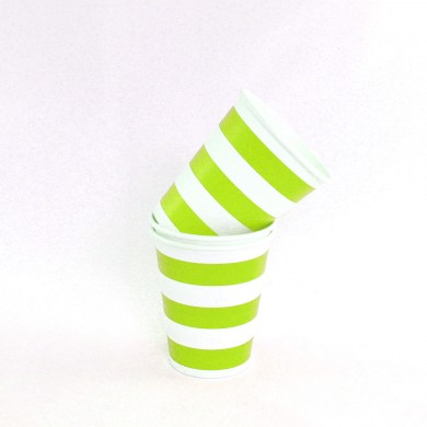 Cups – Candy Stripe Lime