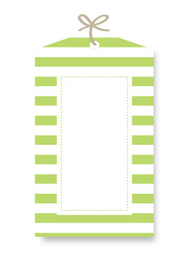 Sambellina Gift Tag – Candy Stripe Lime