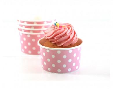 Sambellina Ice Cream Cups – Pink Polkadot