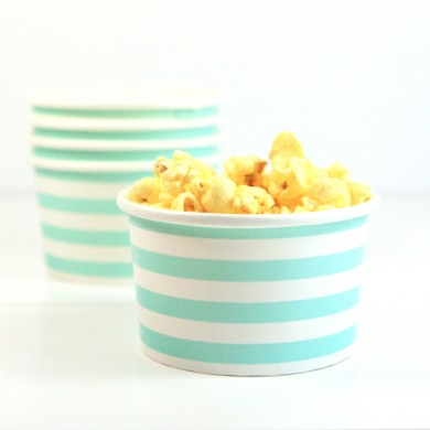 Sambellina Ice Cream Cups – Tiffany Blue Stripe