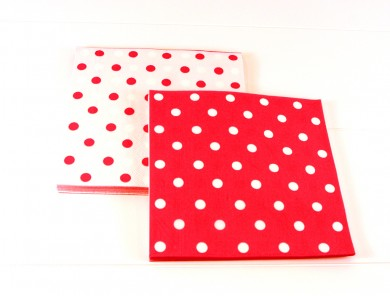 Napkins – Red Polkadot