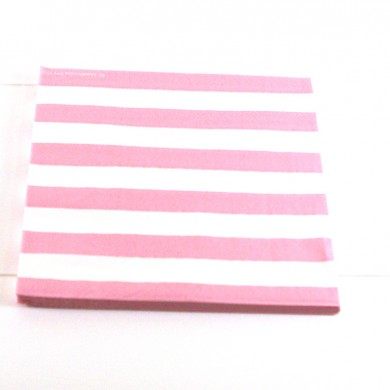 Napkins – Candy Stripe Pink