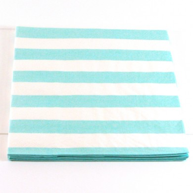 Napkins – Candy Stripe Blue