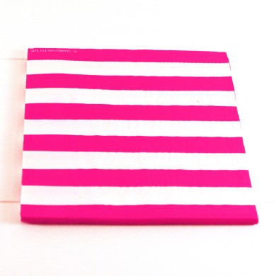 Napkins – Candy Stripe Raspberry