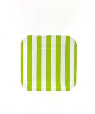 Sambellina Plates – Candy Stripe Lime