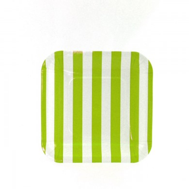 Sambellina Plates &#8211; Candy Stripe Lime