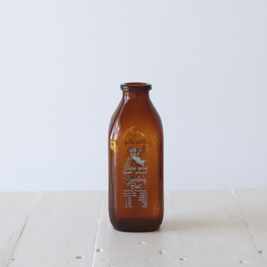 Blueboy Vintage Amber Milk Bottle